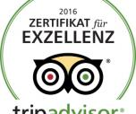 Zertifikat for Excellence Tripadvisor 2016