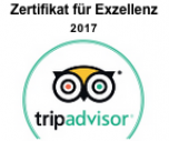 Zertifikat for Excellence Tripadvisor 2017